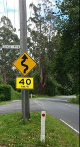 40kmh Road Sign